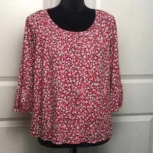 Michael Kors Floral Blouse With Bell Sleeves